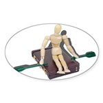 Rowing Briefcase Sticker (Oval 10 pk)