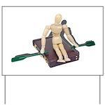 Rowing Briefcase Yard Sign