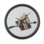 Rowing Briefcase Large Wall Clock