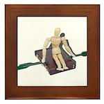 Rowing Briefcase Framed Tile