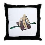 Rowing Briefcase Throw Pillow