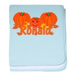 Halloween Pumpkin Ronald baby blanket