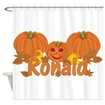 Halloween Pumpkin Ronald Shower Curtain