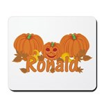 Halloween Pumpkin Ronald Mousepad
