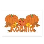 Halloween Pumpkin Ronald Postcards (Package of 8)