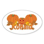 Halloween Pumpkin Ronald Sticker (Oval)