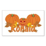 Halloween Pumpkin Ronald Sticker (Rectangle)