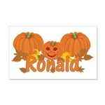 Halloween Pumpkin Ronald 20x12 Wall Decal