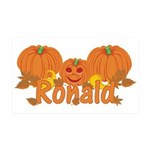 Halloween Pumpkin Ronald 35x21 Wall Decal