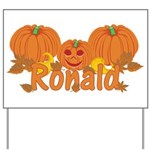 Halloween Pumpkin Ronald Yard Sign
