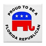 Florida Republican Pride Tile Coaster