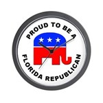 Florida Republican Pride Wall Clock