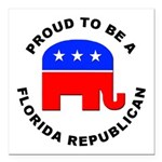 Florida Republican Pride Square Car Magnet 3
