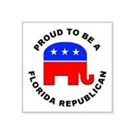Florida Republican Pride Square Sticker 3