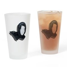 Lacey Black Scarf Drinking Glass