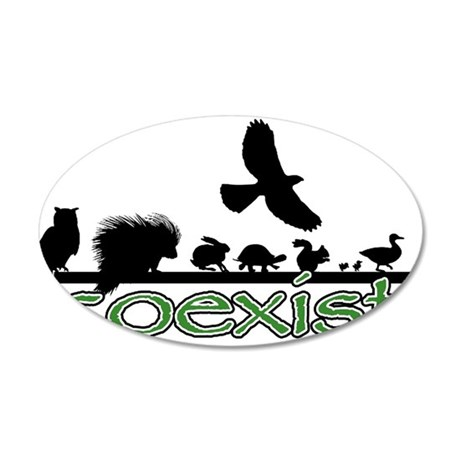 cfw coexist art.png 35x21 Oval Wall Decal