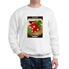 Antique Seed Packet Art Radish Sweatshirt