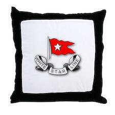 White Star Vlogger Logo Throw Pillow