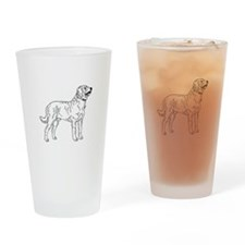 Cute Lab glass Drinking Glass