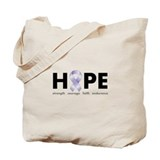 Lavender/Periwinkle Ribbon Hope Tote Bag
