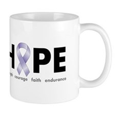 Lavender/Periwinkle Ribbon Hope Mug