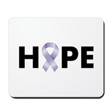 Lavender/Periwinkle Ribbon Hope Mousepad