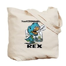 Personalize This T-Rex Tote Bag