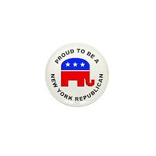 New York Republican Pride Mini Button