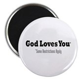 "God Loves You 2.25"" Magnet (10 pack)"