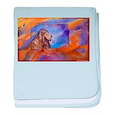 Lion! Wildlife art! baby blanket
