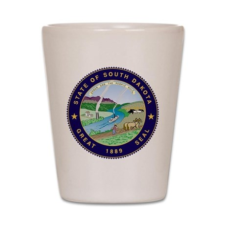 South Dakota State Seal Shot Glass
