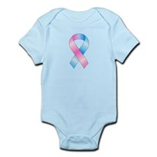 Pink & Blue Ribbon Infant Bodysuit