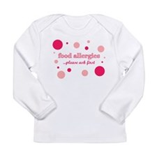 Unique Allergic to nuts Long Sleeve Infant T-Shirt