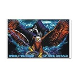 POW MIA Eagle Car Magnet 20 x 12