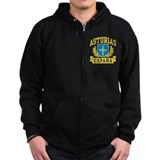 Asturias Espana Zipped Hoodie