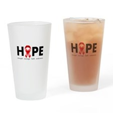 Red Ribbon Hope Drinking Glass