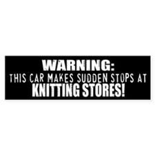 Funny Knitting Bumper Stickers