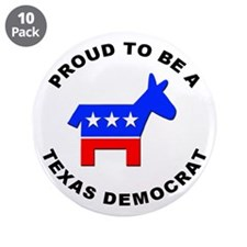 "Texas Democrat Pride 3.5"" Button (10 pack)"