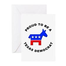 Texas Democrat Pride Greeting Cards (Pk of 20)