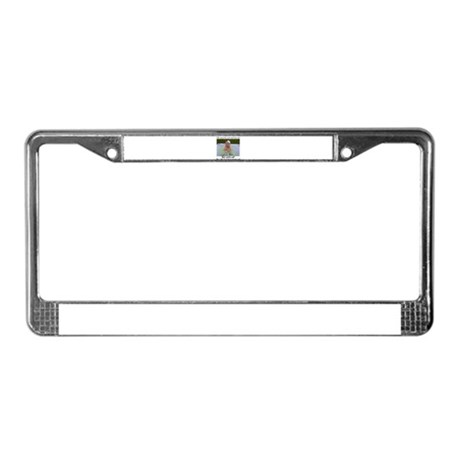 Kicked Cancer's ass License Plate Frame