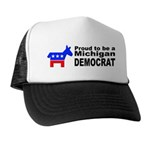 Michigan Democrat Pride Trucker Hat