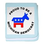 Michigan Democrat Pride baby blanket