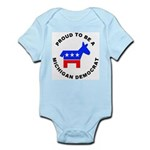 Michigan Democrat Pride Infant Bodysuit