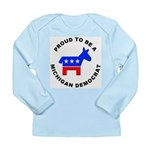 Michigan Democrat Pride Long Sleeve Infant T-Shirt