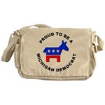 Michigan Democrat Pride Messenger Bag