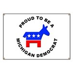 Michigan Democrat Pride Banner