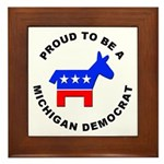 Michigan Democrat Pride Framed Tile