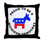 Michigan Democrat Pride Throw Pillow