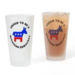 Michigan Democrat Pride Drinking Glass