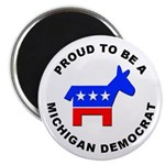 Michigan Democrat Pride Magnet